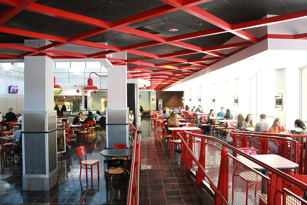 Food Court in the north side of the student center.