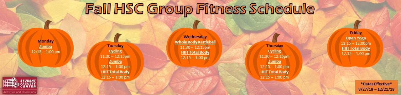 Fall2018 Group Fitness Schedule