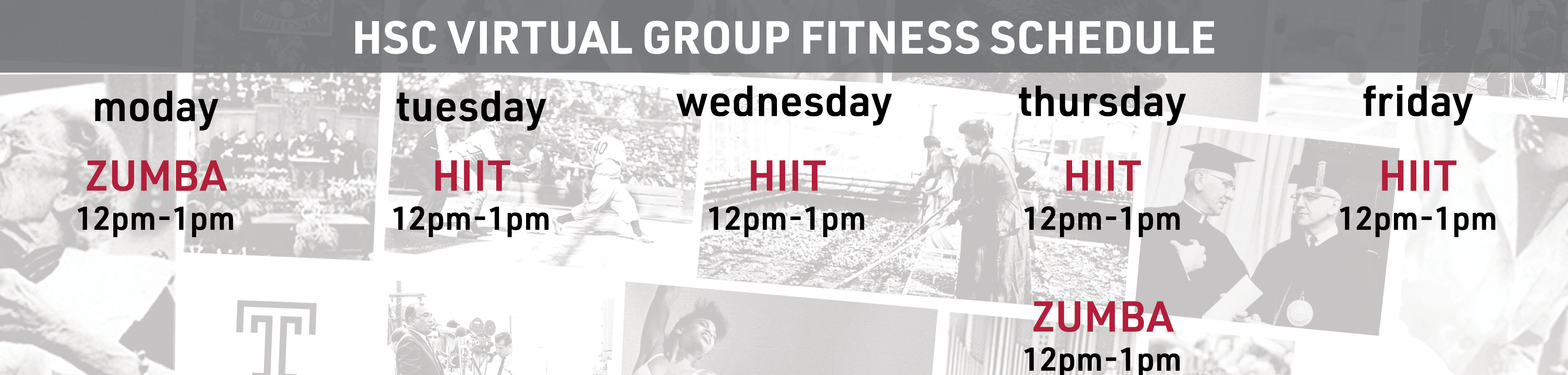 Recreation Group Fitness Schedule