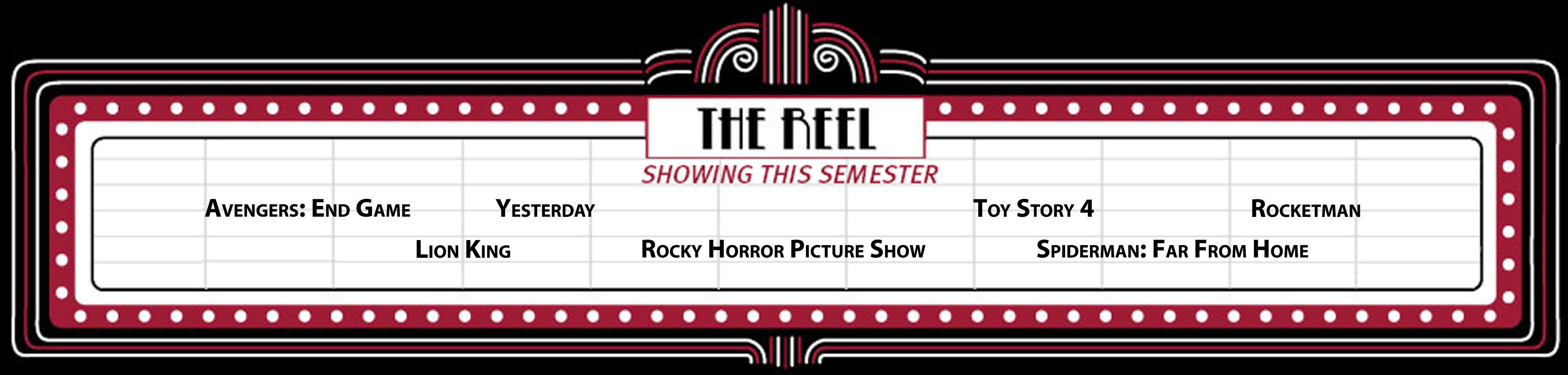 Reel Cinema movie banner Fall 2019